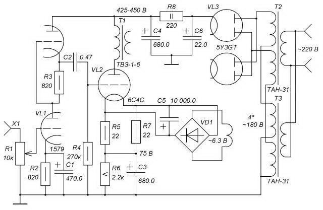 Схема Бокарёва на 6С4С