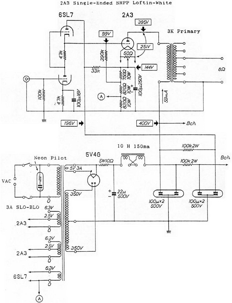 2A3-SE-6SL7-SRPP-Loftin-White-Tube-Amp
