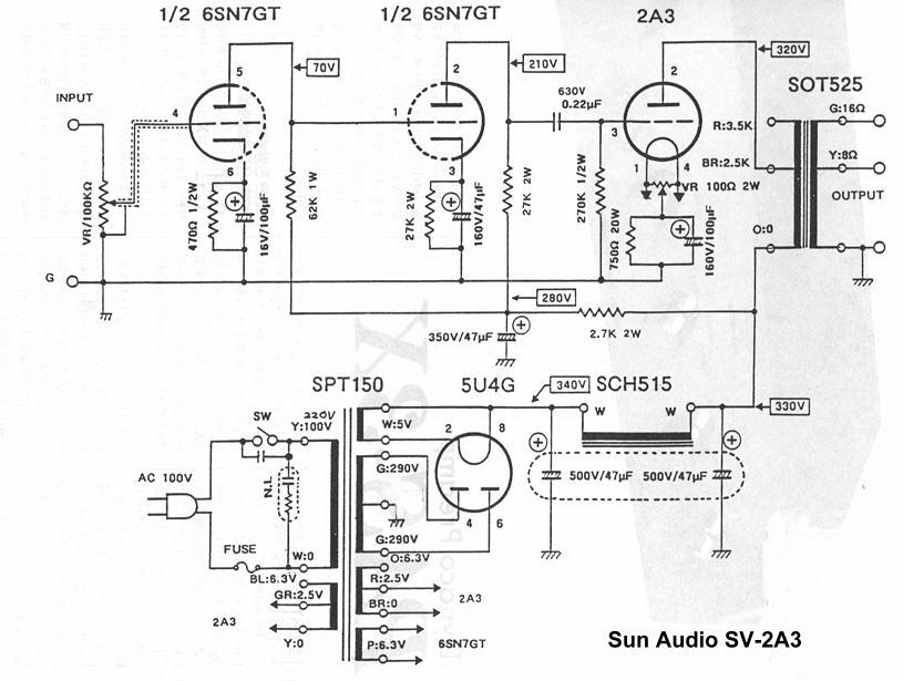 2x6SN7+2A3(sunaudio SV-2A3)