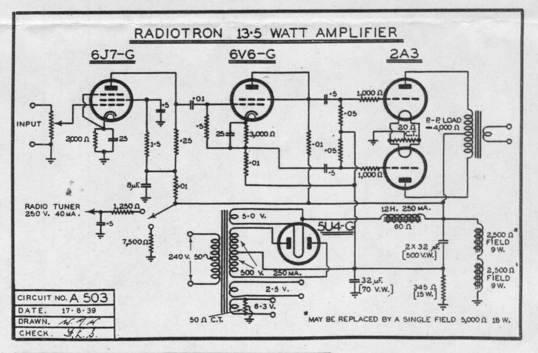 AWA A503 circuit